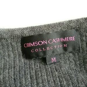 Crimson Cashmere Sweaters - Gray Sleeveless 100% Cashmere Crewneck Sweater